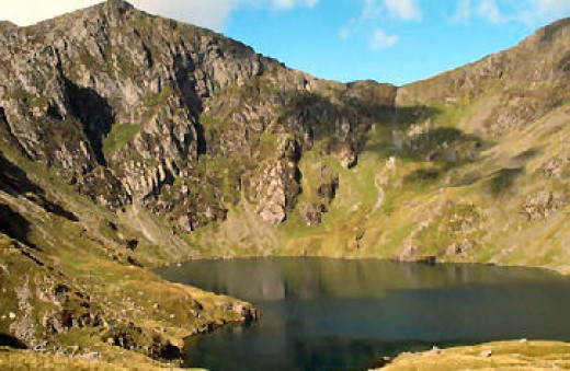 Cader Idris, showing LLyn Cau