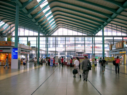 Hung Hom station offers direct train connections to Guangzhou