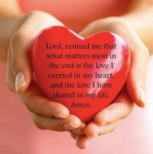 Always remember the most important thing in life is Love.