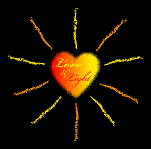 love is the light to darkness