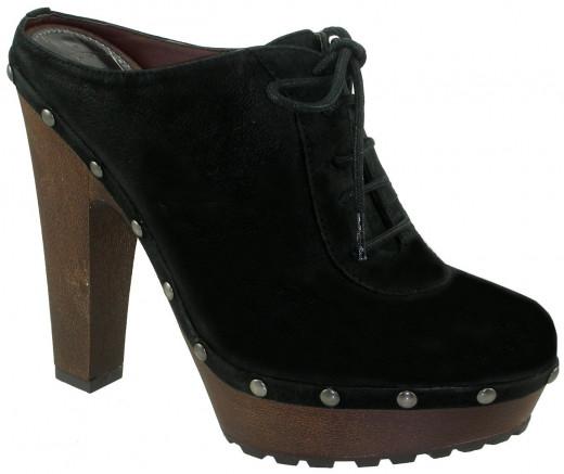 Faye Women's Black Nubuck clog