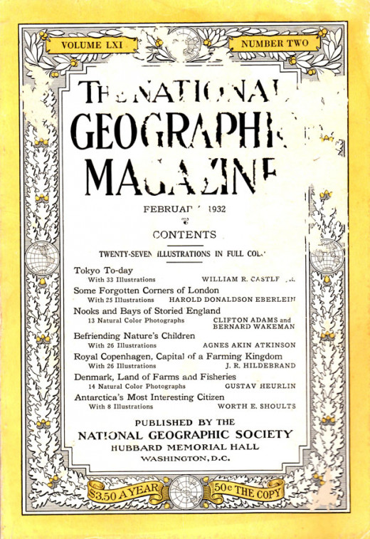 Magazine's front cover