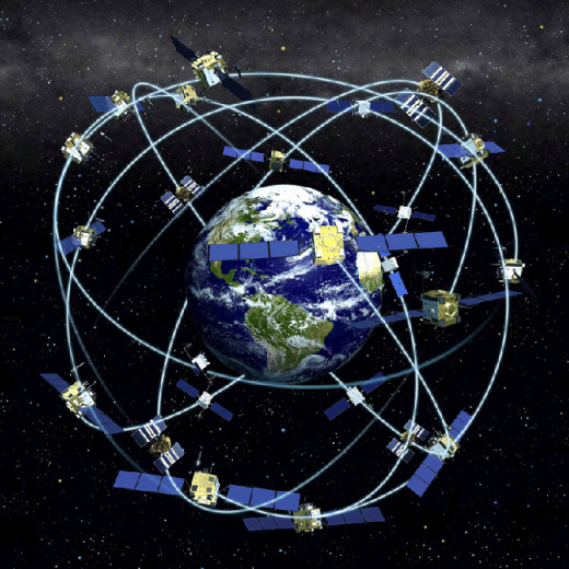 A 3D Representation of the GPS Satellite Constellation