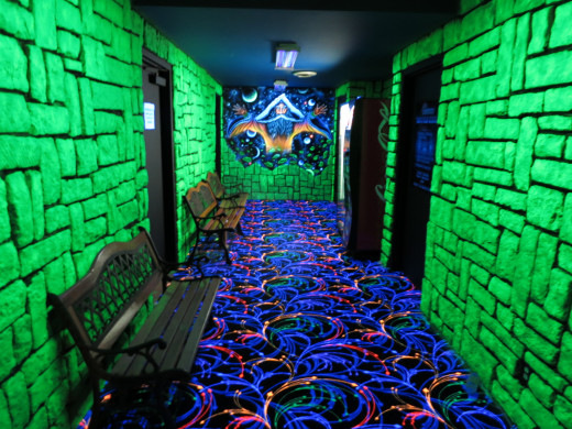 Golfland Laser Tag hall way