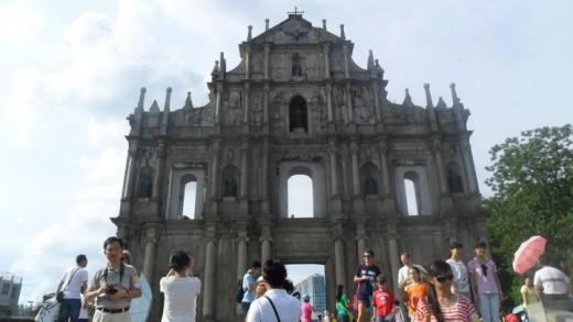 St Paul Cathedral ruins; Macau Island, China