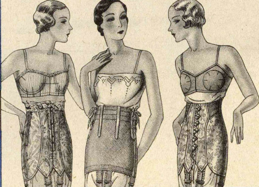 Corsets - circa, 1932,.  Another reason for a great depression?