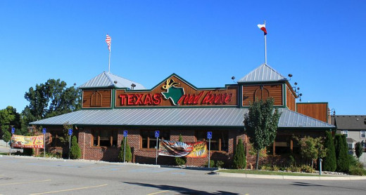 A typical Texas Roadhouse restaurant.