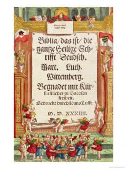The title page of the first volume of The Luther Bible