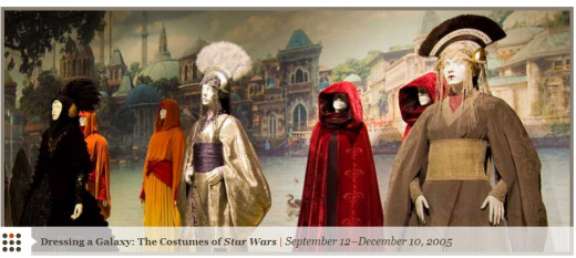 One of the exhibitions at the FIDM Museum included costumes from the Star Wars movies.