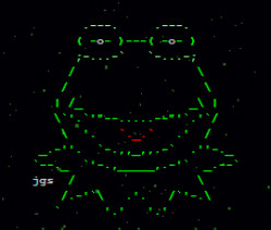 Sesame Street and The Muppets in ASCII Text Art