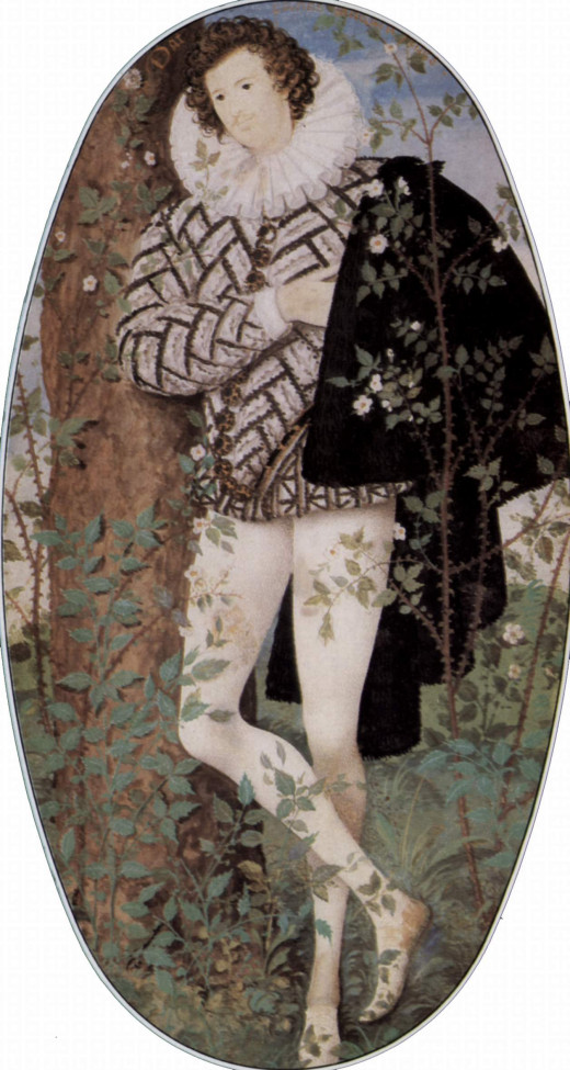 1588 portrait thought to represent Robert Devereux