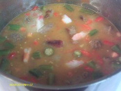 Cajun Food:  Shrimp and Sausage Gumbo