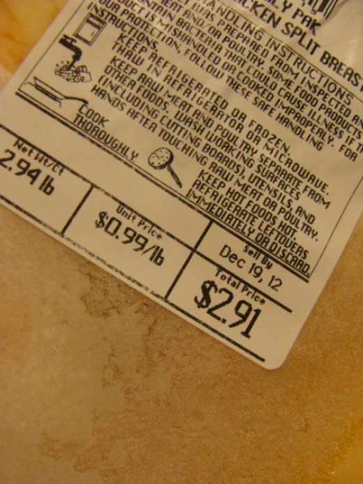 Wouldn't it be nice if chicken breasts were always .99 cents a pound?  They can be if you stock up with enough to last until the next sale comes around.