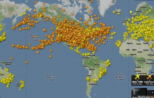 From Flightradar24, which also has phone apps that allow you to track the flights