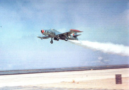"""Photo was evidently copied from a paper publication (no source listed)- """"F84"""" in JATO takeoff"""