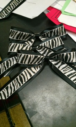 Several finished bows.