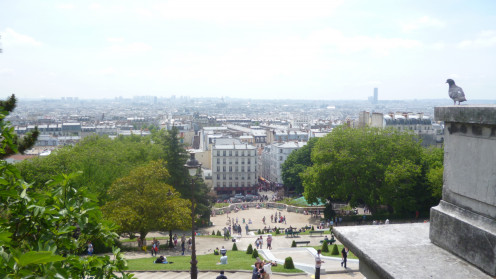 View from the steps of Sacré-Coeur