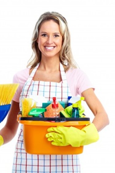 Getting organized with all your cleaning supplies to carry with you will save a lot of time