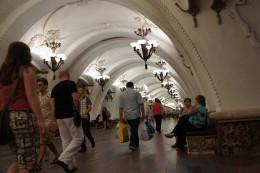 Komsomoskaya metro station - Moscow's finest?