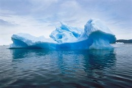 Around 11% of an iceberg is visible while the rest is underneath the water surface. (source: corbisimage.com)