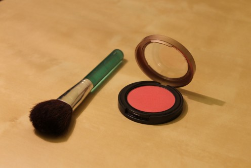 Rouge or blusher was used as far back as the Egyptians and often used on the lips.