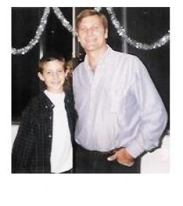 David and his stepson in 2000