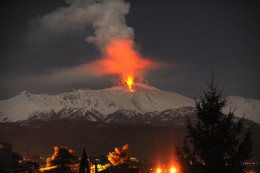 Volcanic eruption in Italy 2012