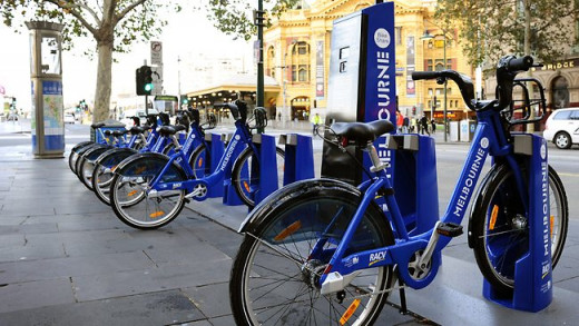 Look out for Bike Share stations around Melbourne, and don't forget your helmet!