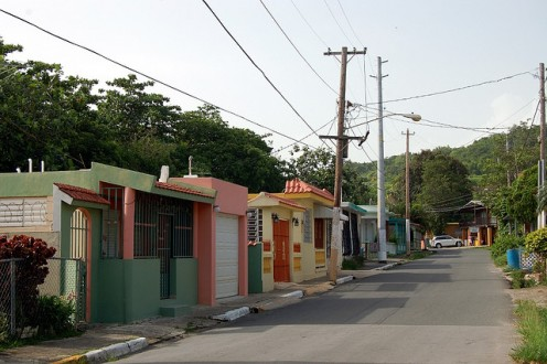 The buildings in Puerto Rico are painted in vibrant colors.