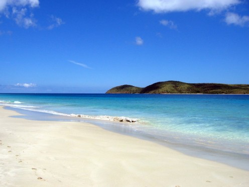 Zoni Beach - to the north - in Culebra