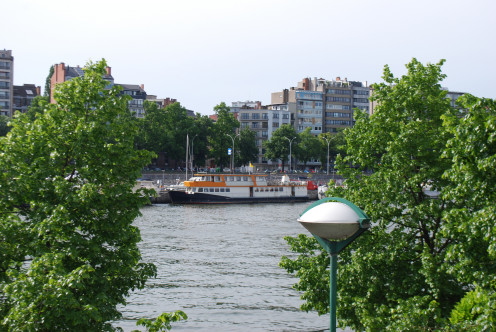 View of the marina, Liège