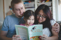 Reading to your child is a great way to comfort your child when they aren't feeling well.