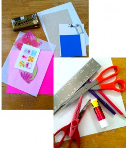 Supplies for Making Candy Bar Wrappers