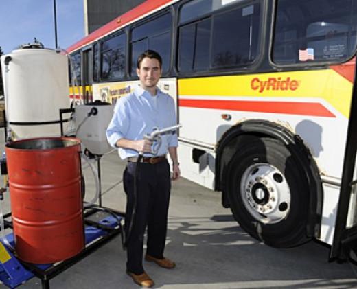 Bio-diesel powered bus