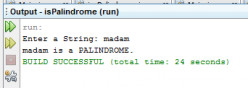 Java Program Examples in Netbeans: Palindrome Test Java Source Code