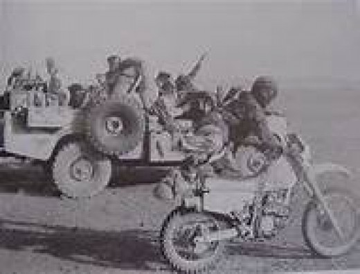 British Special Forces Land-Rovers and bikes