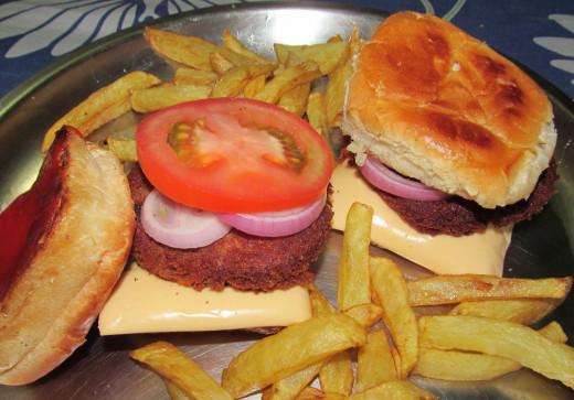 vegetarian rajma burger