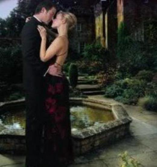 Couple Kissing---Silent Loving Moments