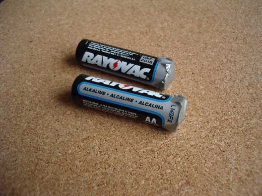 Dispose of the batteries singly