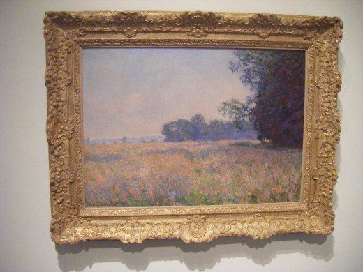 """Claude Monet """"Champ d'avoine"""" (Oat Field) 1890.  Monet was a founder of French Impressionist painting who lived 14 November 1840 – 5 December 1926."""
