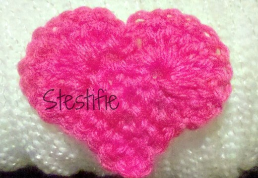 I made this crochet heart from the video above