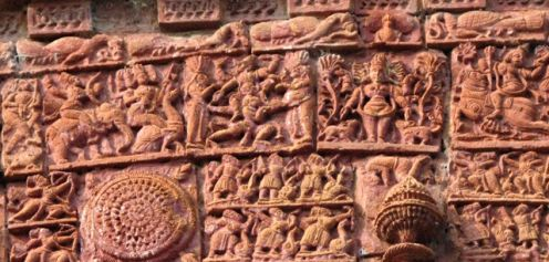 Gods from the sky viewing the battle of Lanka.