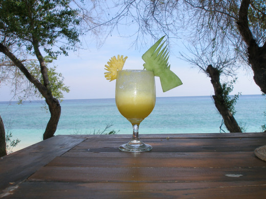 Tropical cocktails abound with creativity.