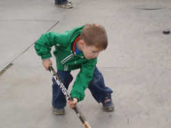 Ice hockey as a youngster!