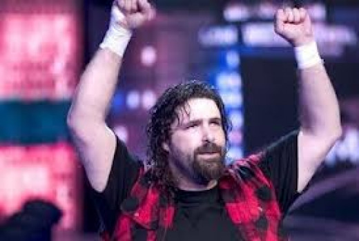 Mick Foley will do anything to win a Wrestling match. He has been in barbed wire matches, ladder matches and steel cage matches in his memorable career.