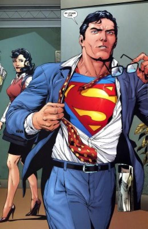 Clark Kent as Superman - Photo Source:http://www.earljwoods.com