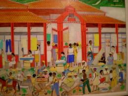 """Clugny Market"" - 1966 - by Seneque Obin"