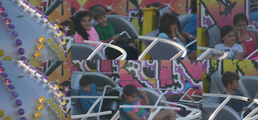 8 children on the same ride - all showing different feelings