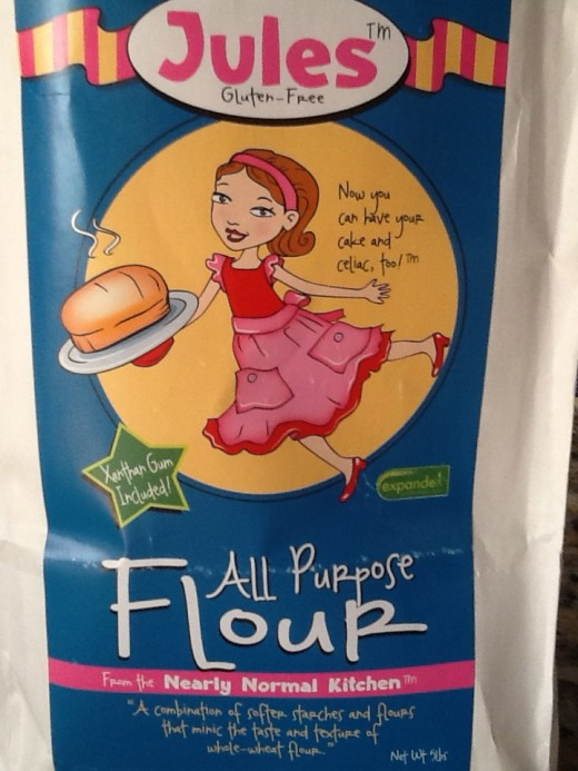Jules is a great gluten free flour mix--no need to add anything!