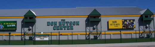 The Don Hutson Center practice facility across the street from Lambeau Field.